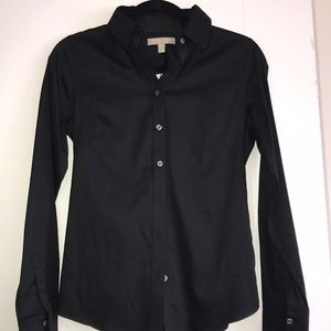 Banana Republic Black button shirt down NWT